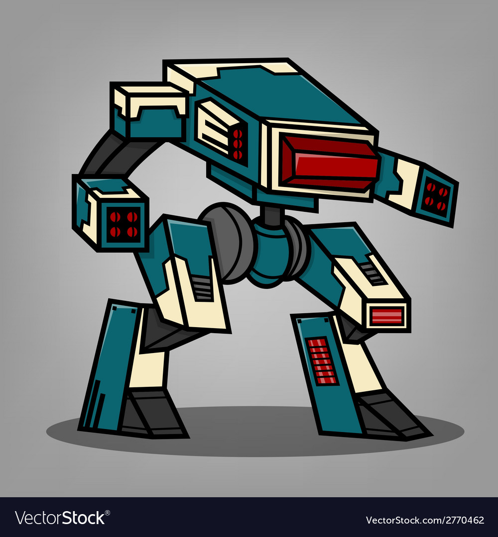Square box style robot vector | Price: 1 Credit (USD $1)