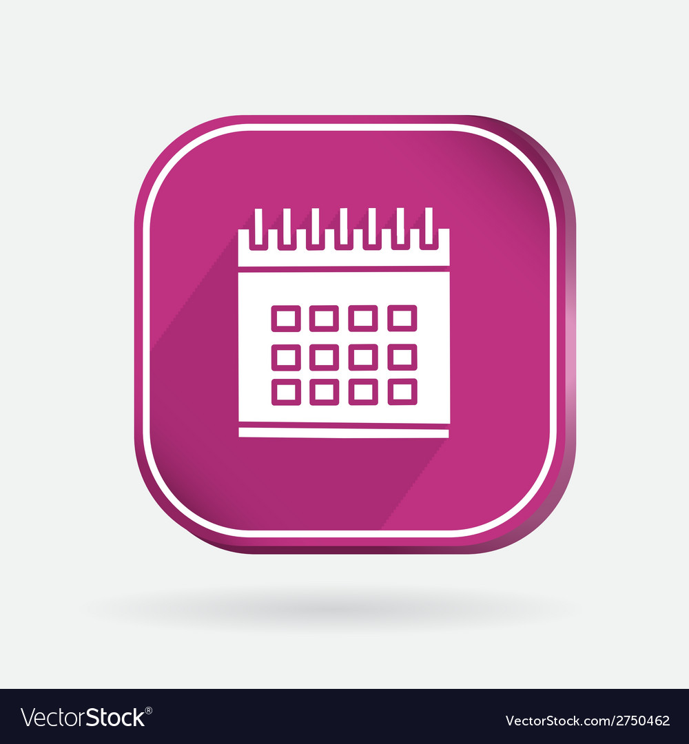 Square icon calendar vector | Price: 1 Credit (USD $1)