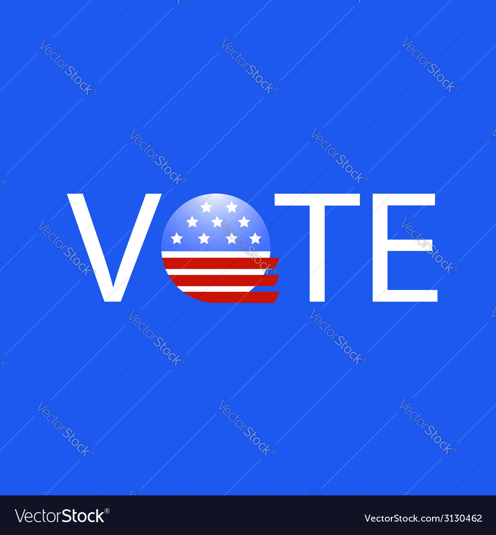 United states election vote button vector | Price: 1 Credit (USD $1)