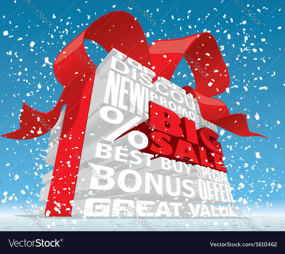 Winter big sale 3d text vector | Price: 1 Credit (USD $1)