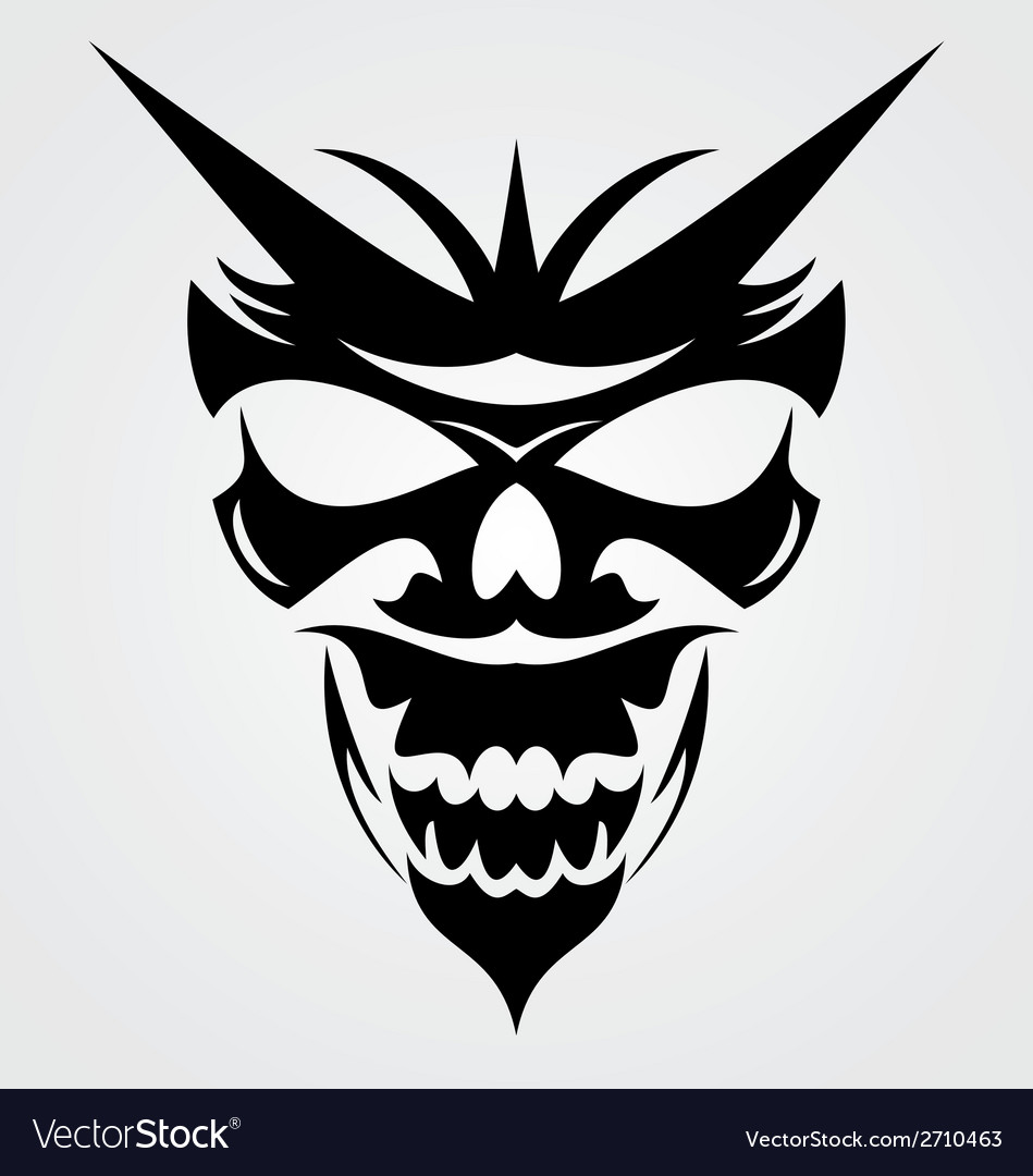 Black devil mask vector | Price: 1 Credit (USD $1)