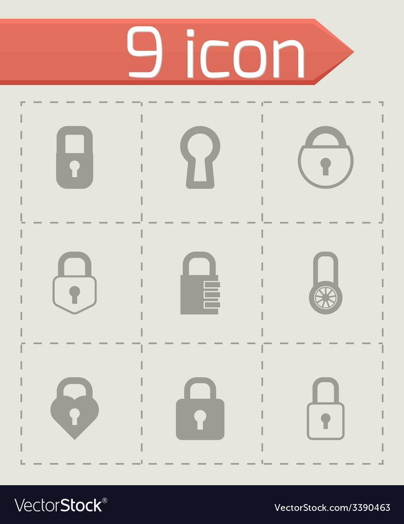 Black locks icons set vector   Price: 1 Credit (USD $1)