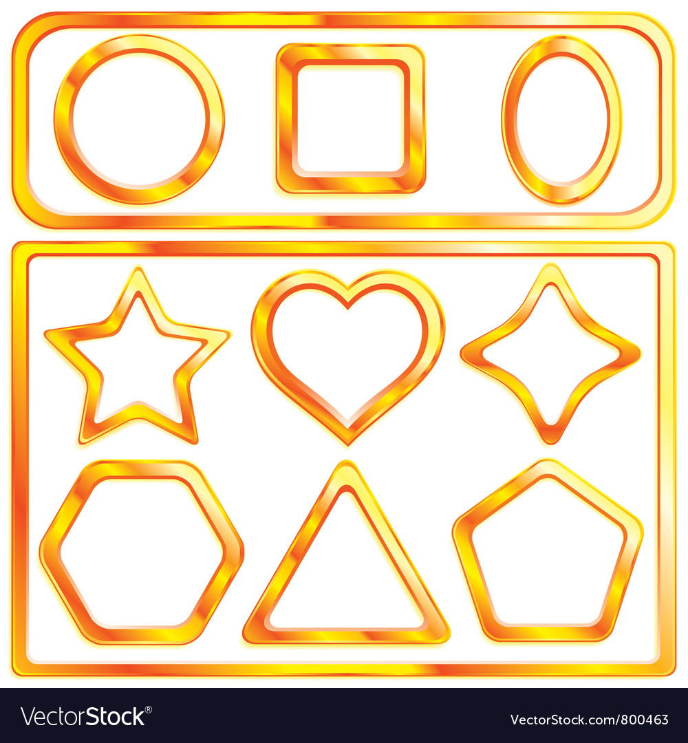 Collection of a 11 gold frames vector | Price: 1 Credit (USD $1)