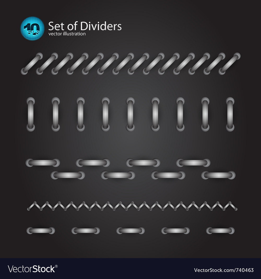Cord divider set vector | Price: 1 Credit (USD $1)