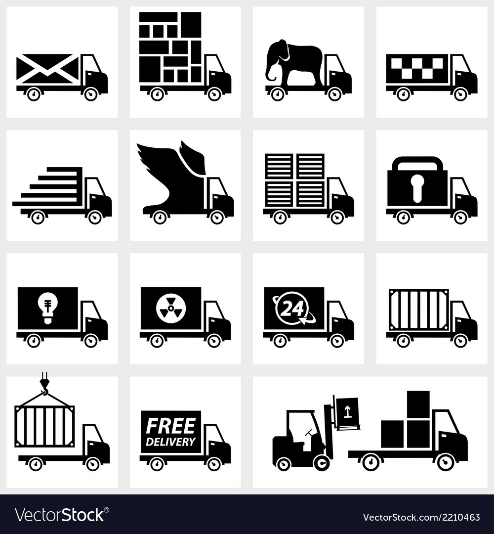 Icon set delivery vector | Price: 1 Credit (USD $1)