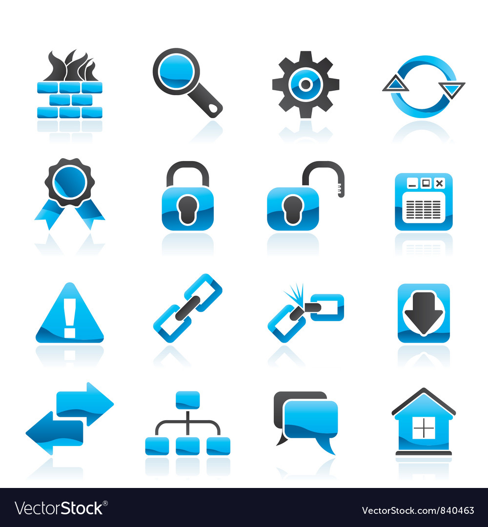 Internet and web site icons vector | Price: 1 Credit (USD $1)