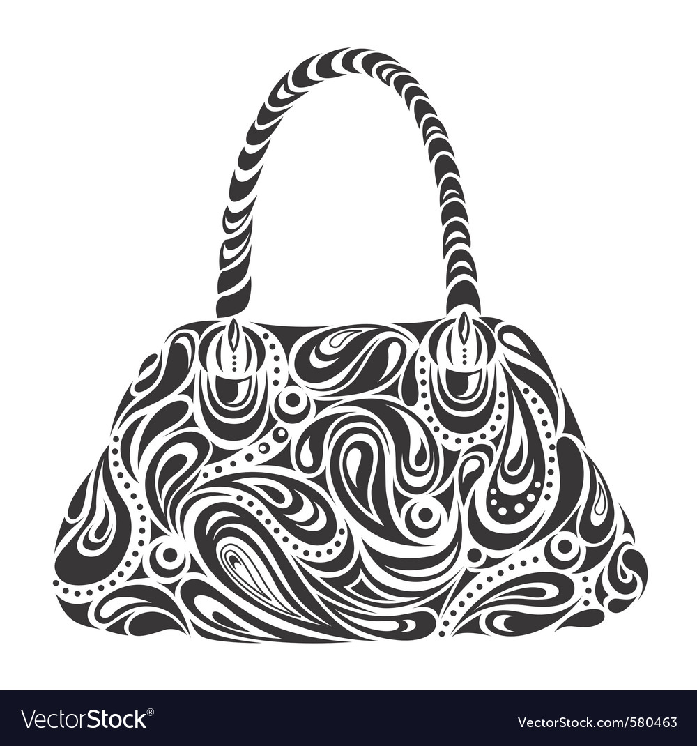 Modern handbag vector | Price: 1 Credit (USD $1)