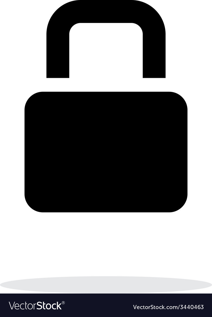 Padlock icon on white background vector | Price: 1 Credit (USD $1)