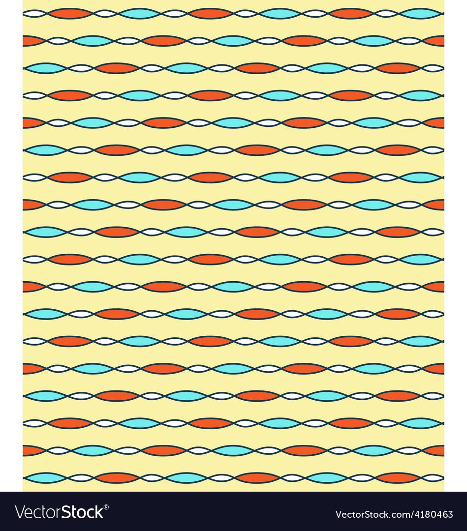 Seamless bright fun abstract horizontal pattern vector | Price: 1 Credit (USD $1)