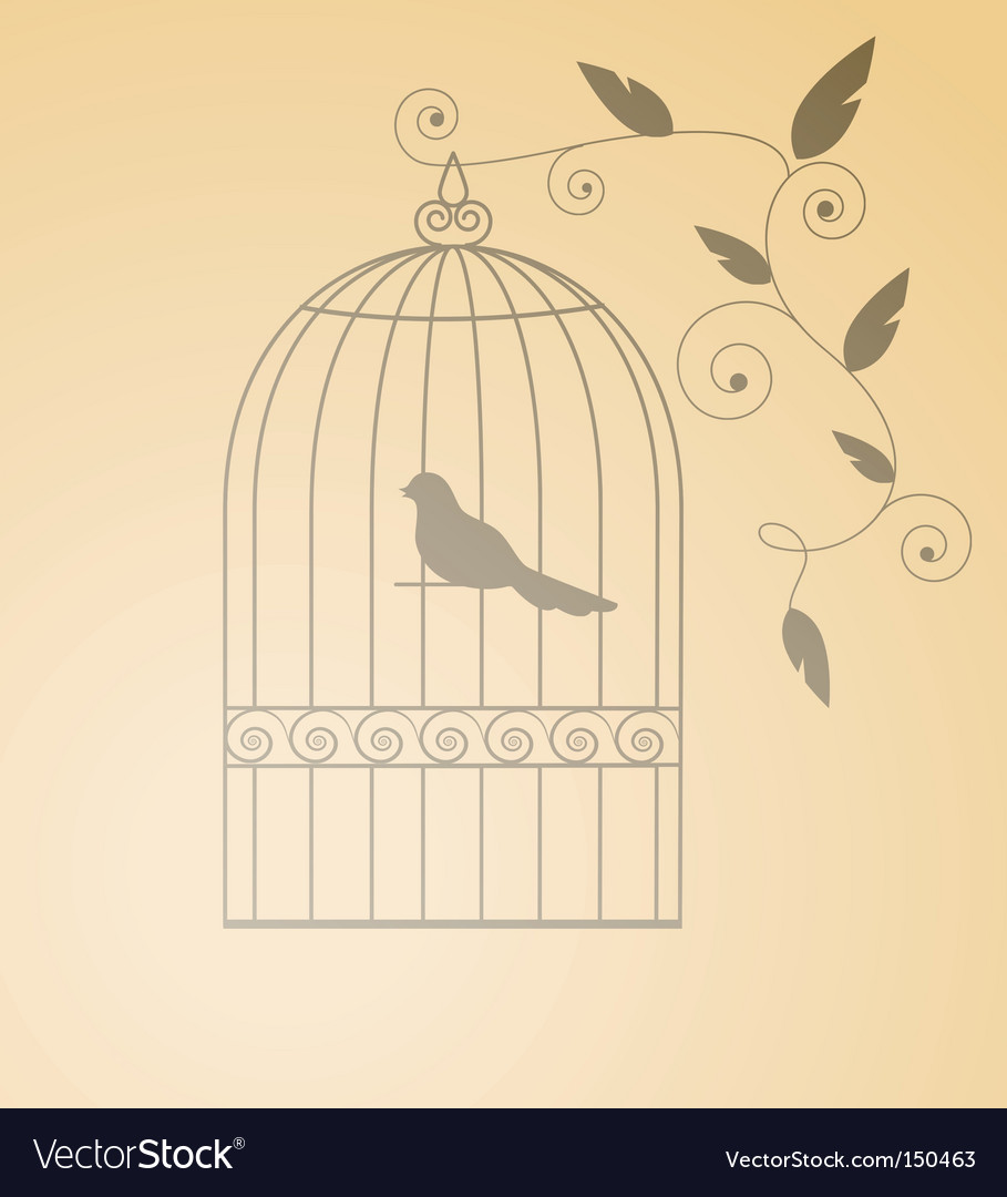 Silhouette cage vector | Price: 1 Credit (USD $1)