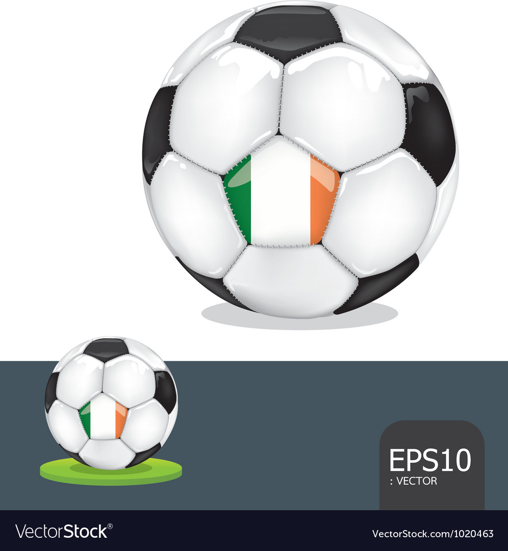 Soccer euro ireland vector | Price: 1 Credit (USD $1)