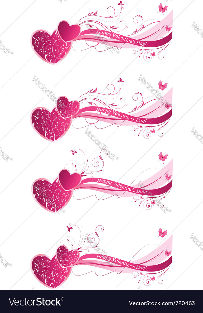 Valentines day floral vector | Price: 1 Credit (USD $1)