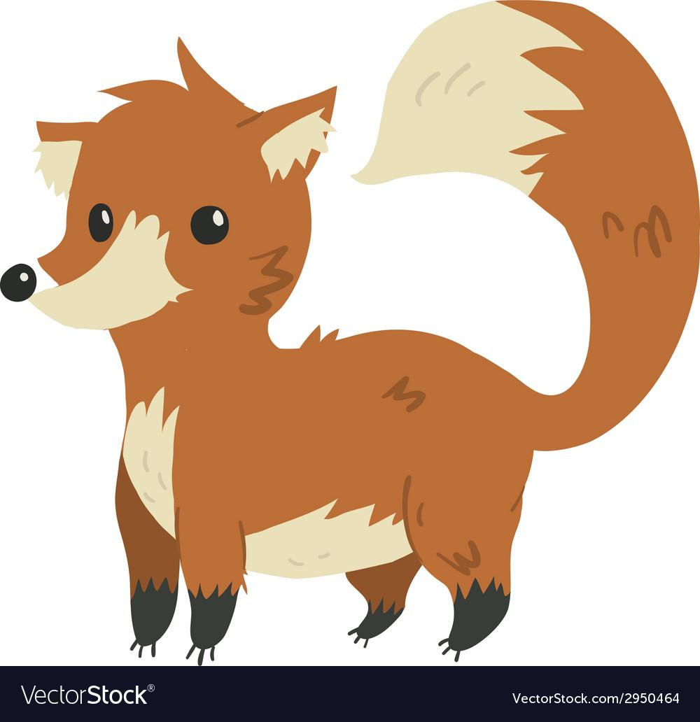 Cartoon flat funny fox mascot vector | Price: 1 Credit (USD $1)