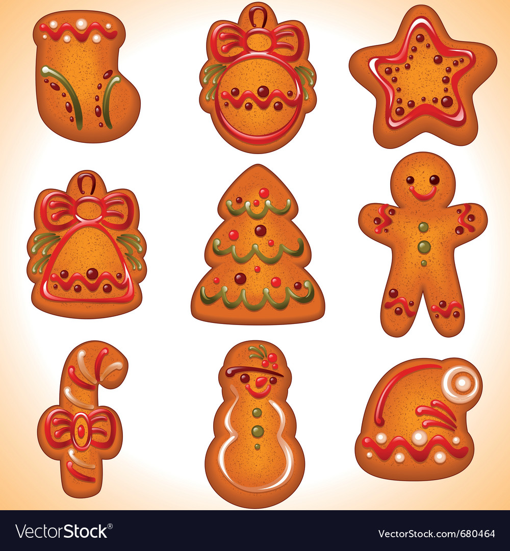 Christmas cookie set vector | Price: 3 Credit (USD $3)