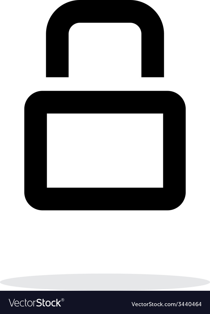 Close padlock icon on white background vector | Price: 1 Credit (USD $1)