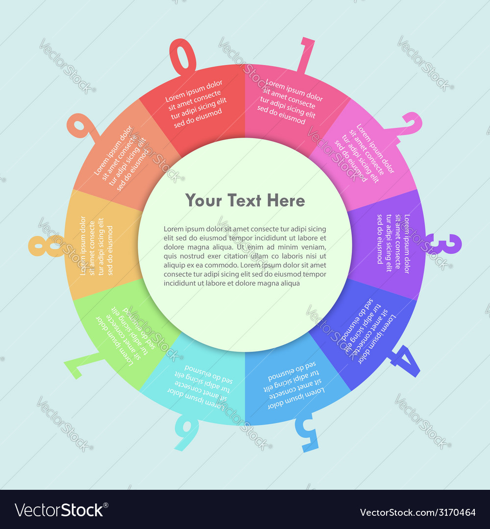 Colorful circle infographic background design vector | Price: 1 Credit (USD $1)