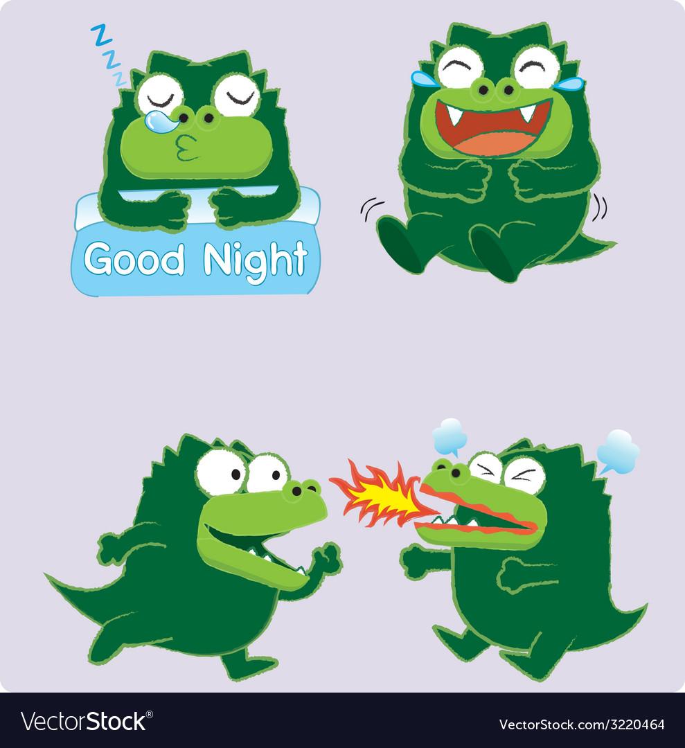 Crocodileacting02 vector | Price: 1 Credit (USD $1)