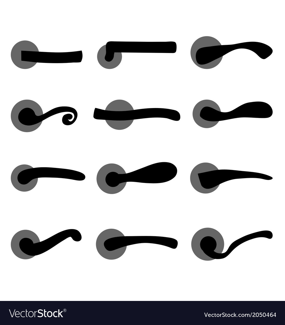 Door handles vector | Price: 1 Credit (USD $1)