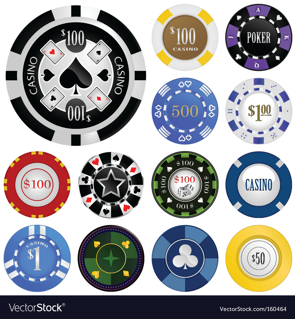 Gambling chips vector | Price: 1 Credit (USD $1)