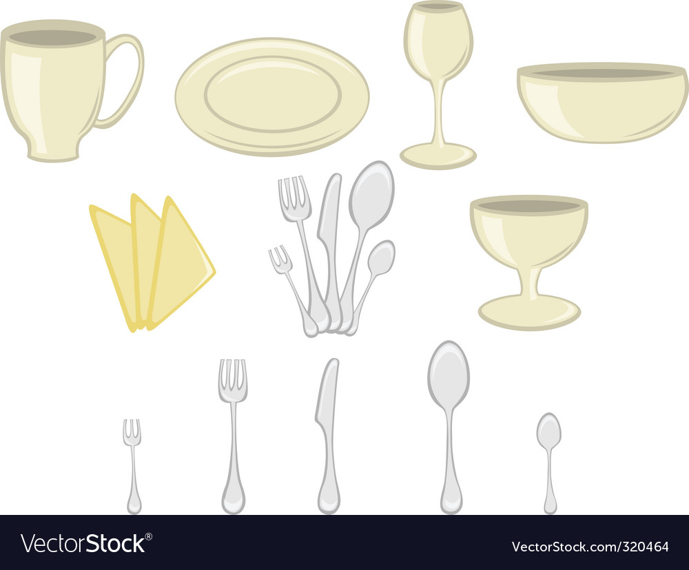 Kitchenware icons vector | Price: 1 Credit (USD $1)