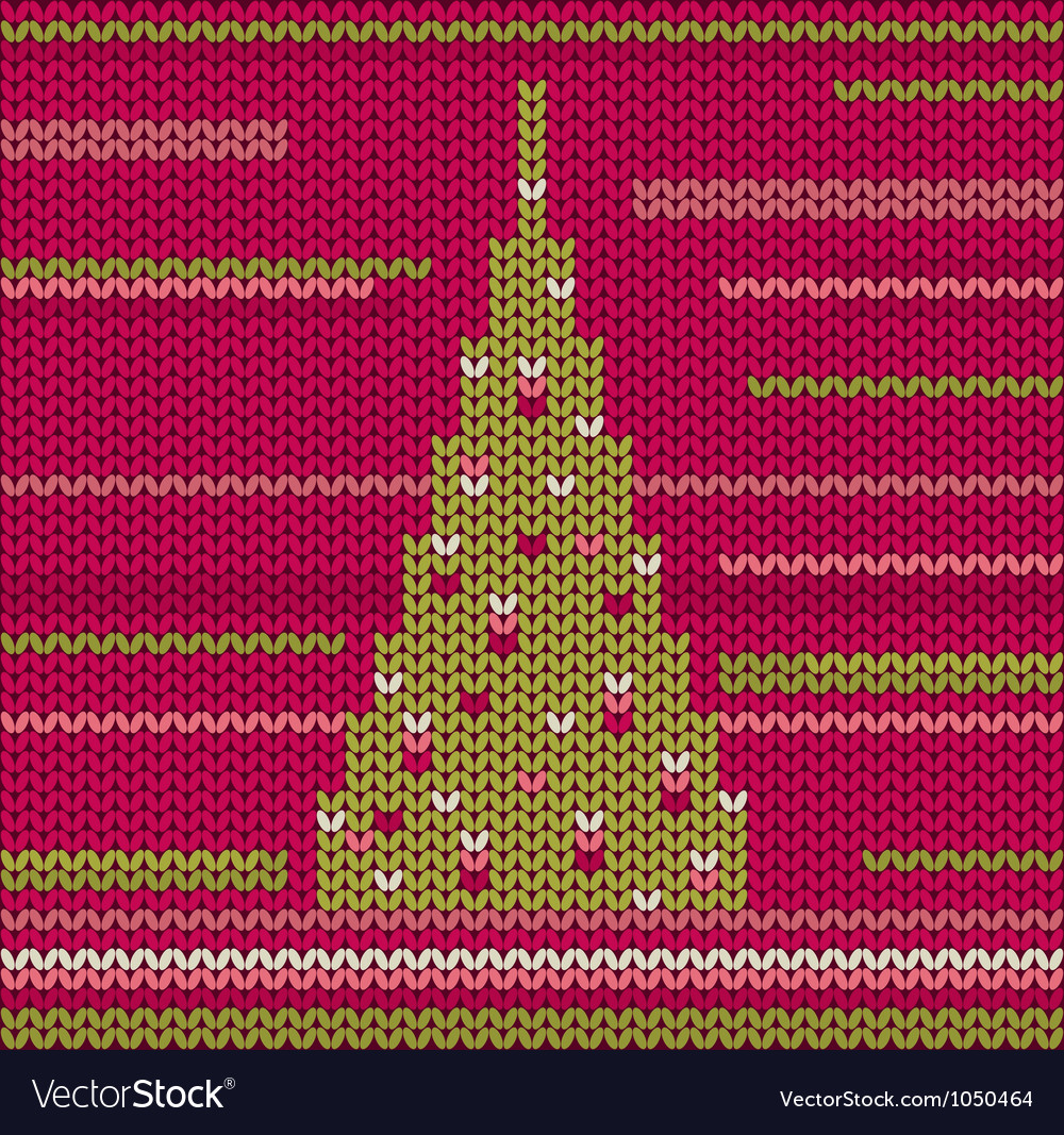 Knitted christmas tree vector | Price: 1 Credit (USD $1)
