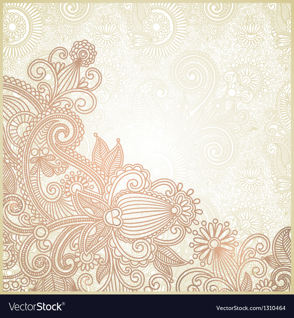 Ornate flower background vector | Price: 1 Credit (USD $1)