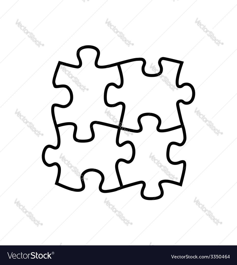 Puzzles icon vector   Price: 1 Credit (USD $1)