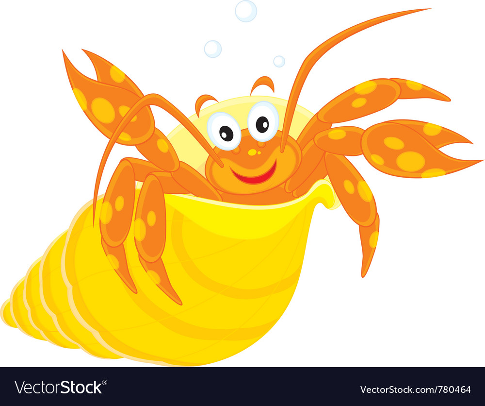 Sea crawfish in his shell vector | Price: 1 Credit (USD $1)