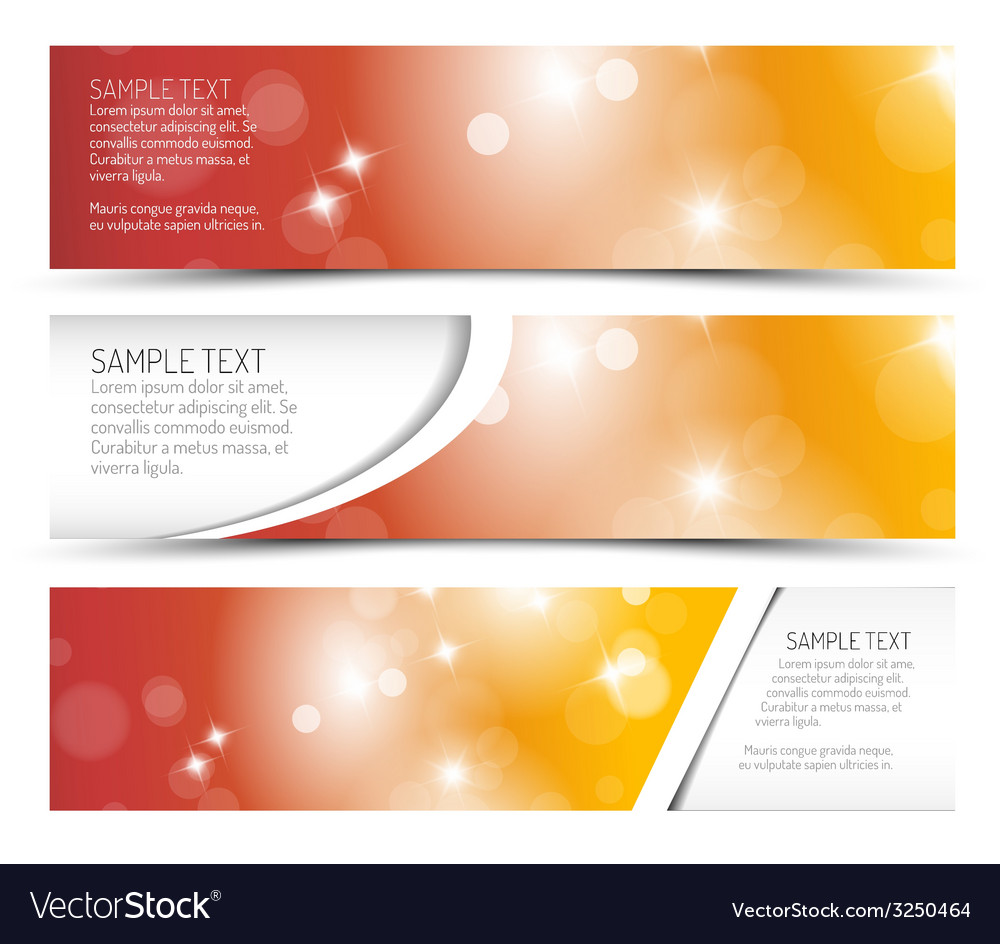 Set of hot summer horizontal banners vector   Price: 1 Credit (USD $1)