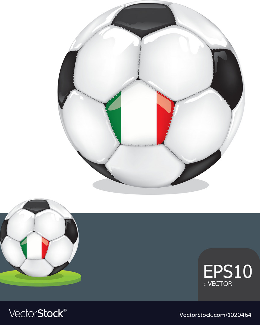 Soccer ball italy euro flag vector | Price: 1 Credit (USD $1)