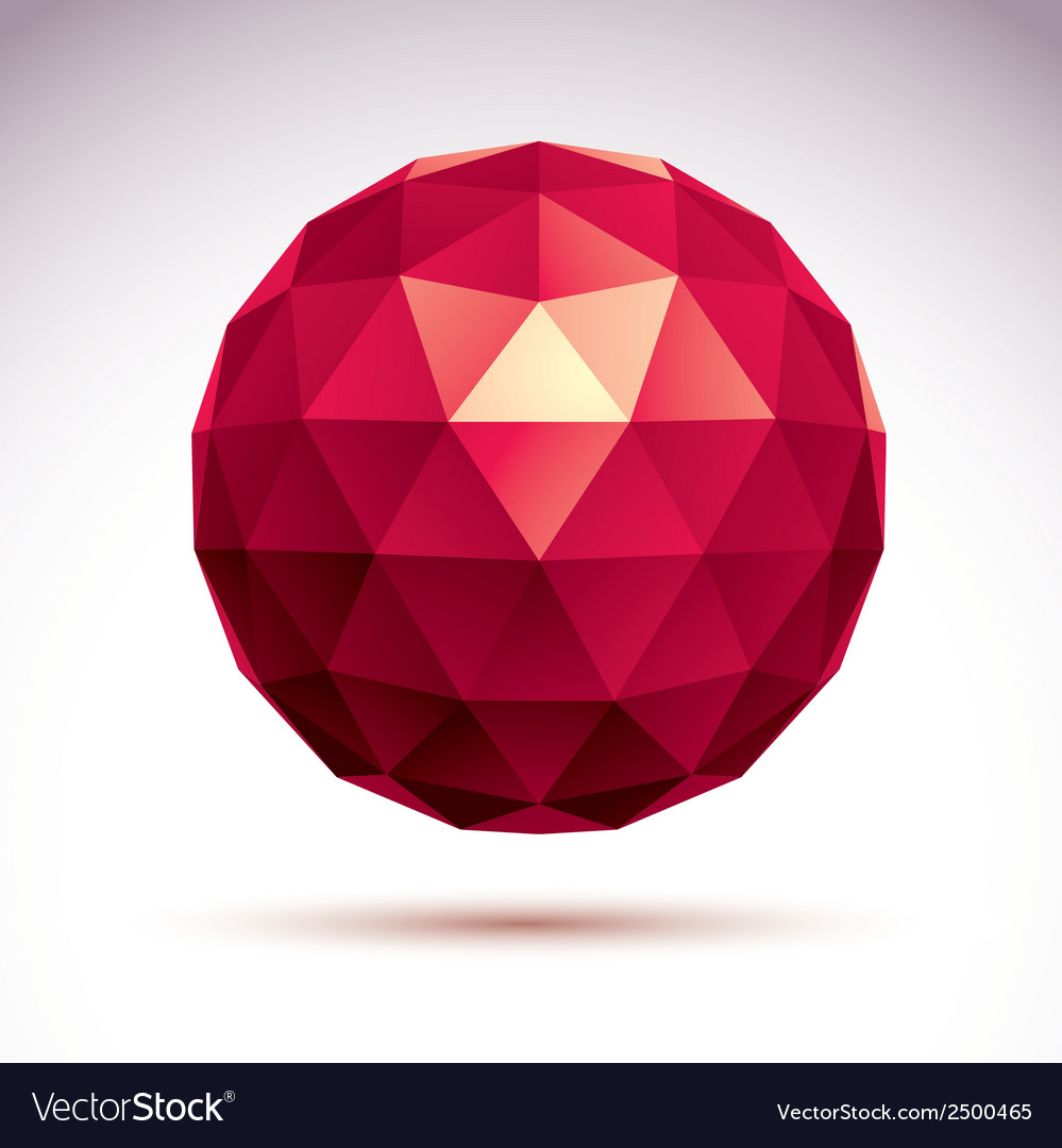 3d origami abstract object abstract design element vector | Price: 1 Credit (USD $1)