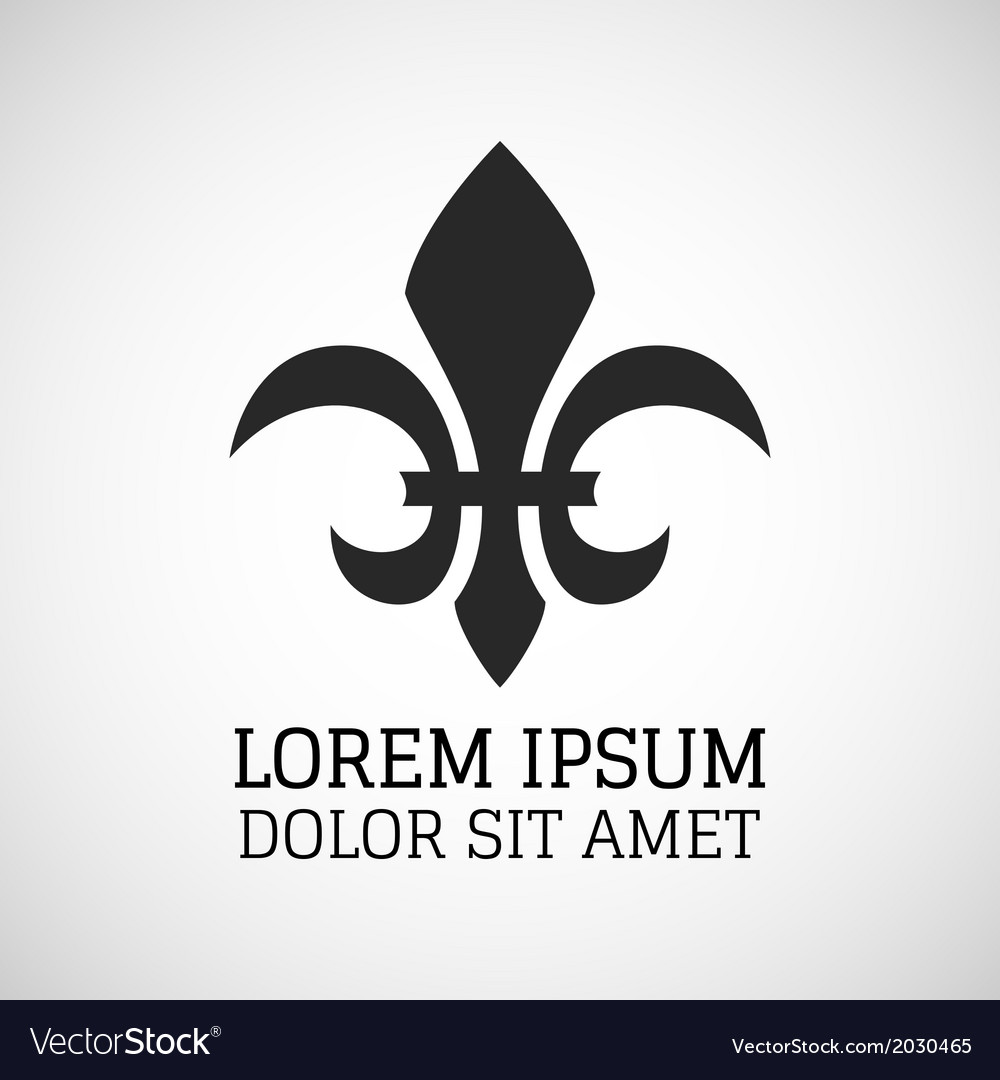 Black silhouetted of fleur-de-lis symbol vector | Price: 1 Credit (USD $1)