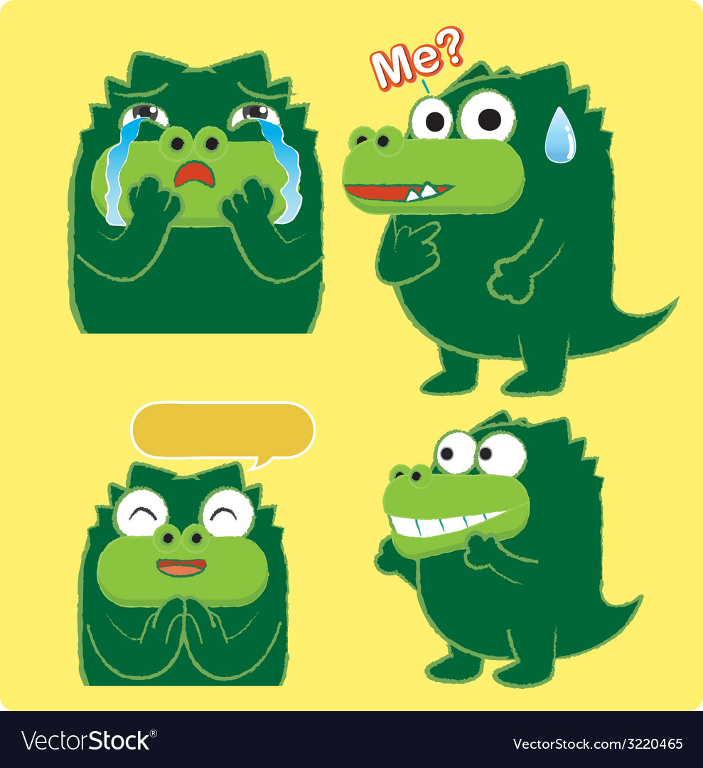 Crocodileacting03 vector | Price: 1 Credit (USD $1)