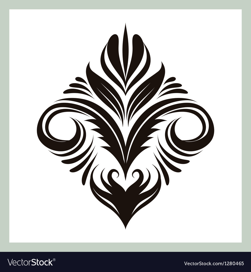 Decorative floral ornament vector | Price: 1 Credit (USD $1)