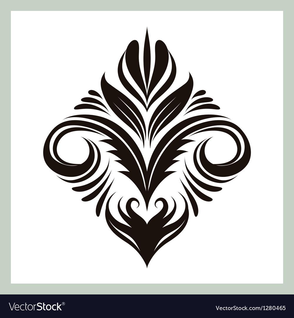 Decorative floral ornament vector | Price: 1 Credit (USD $1)