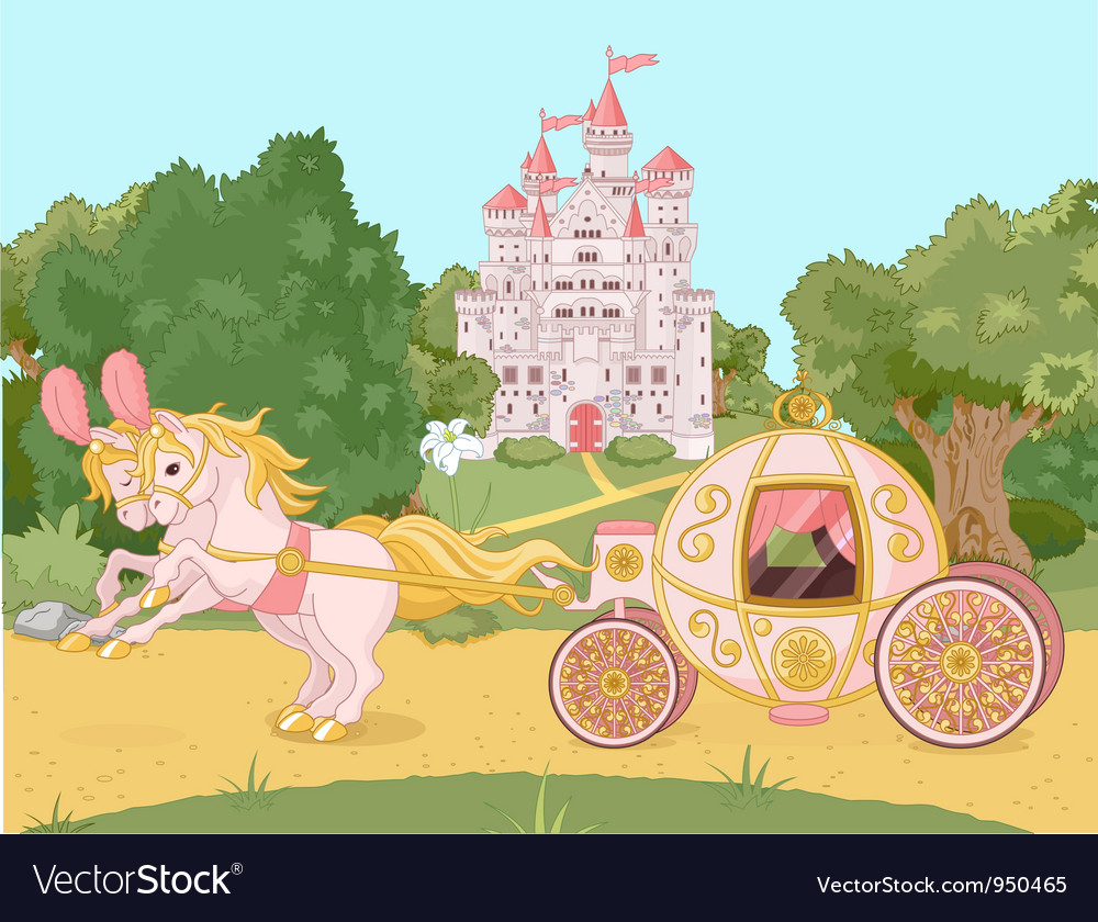 Fairytale carriage vector | Price: 5 Credit (USD $5)