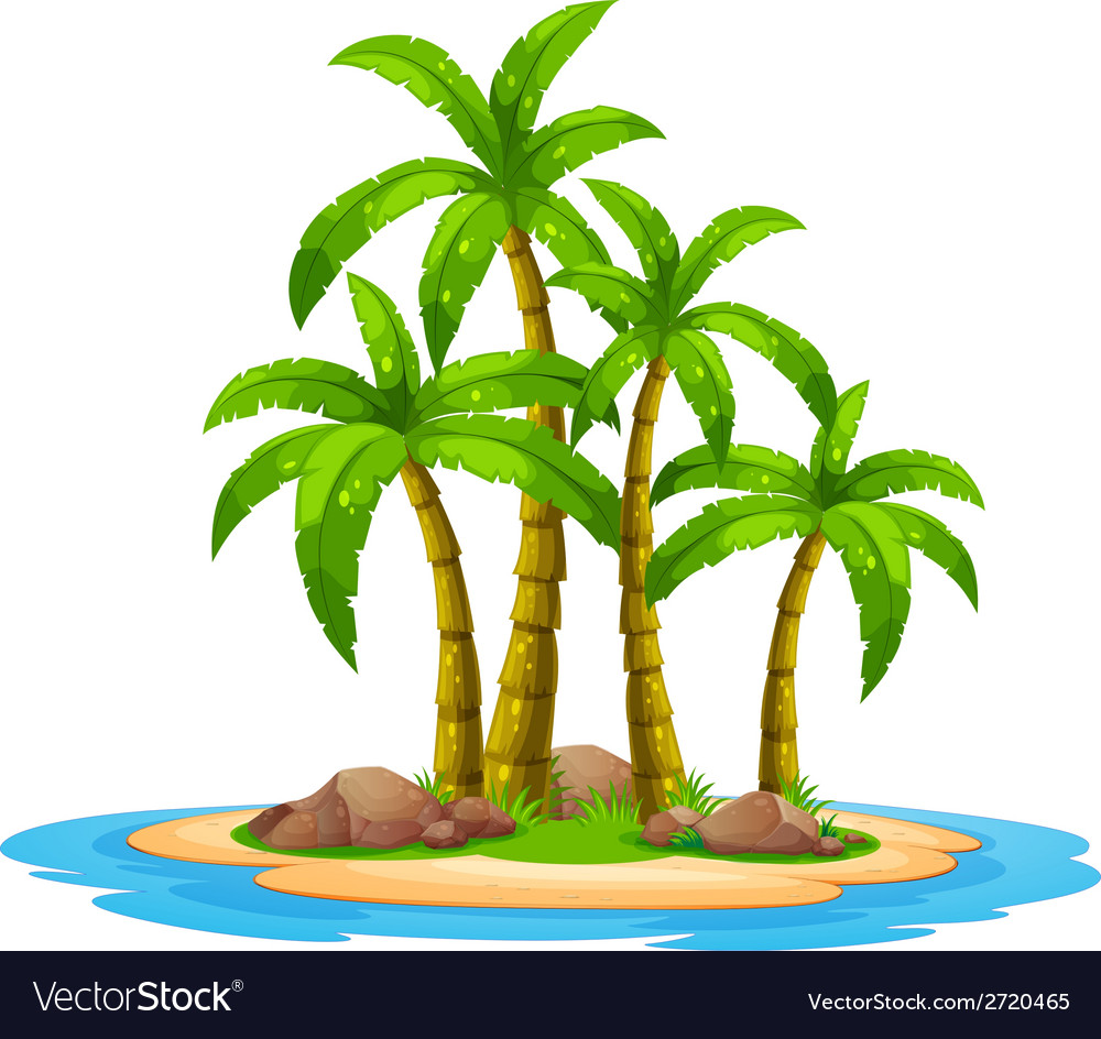 Island vector | Price: 1 Credit (USD $1)