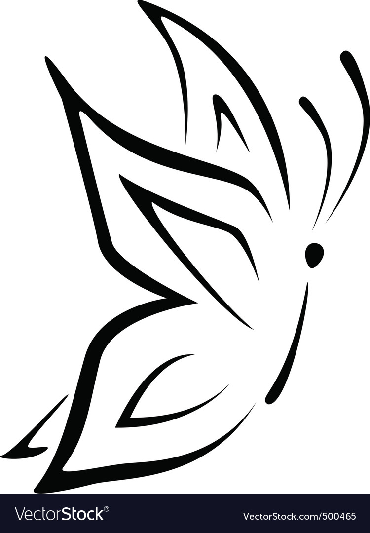 Line butterfly vector | Price: 1 Credit (USD $1)