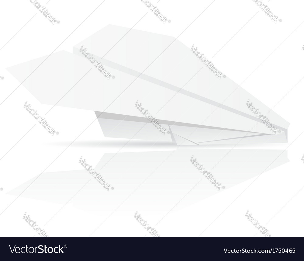 Origami paper plane vector | Price: 1 Credit (USD $1)
