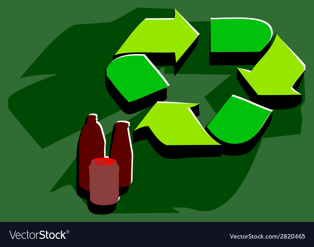 Recycling facility vector | Price: 1 Credit (USD $1)