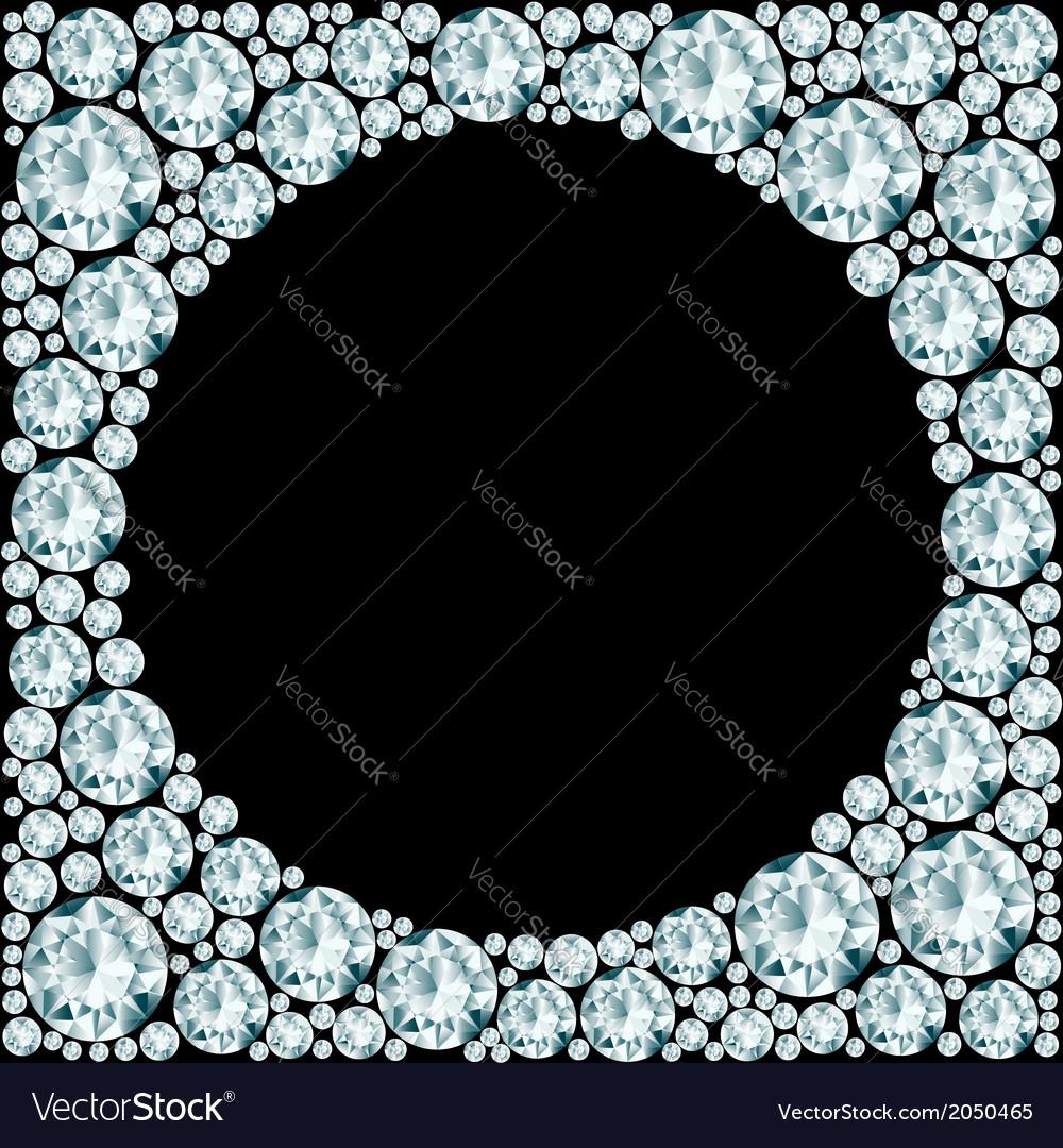 Round frame made of diamonds vector | Price: 1 Credit (USD $1)
