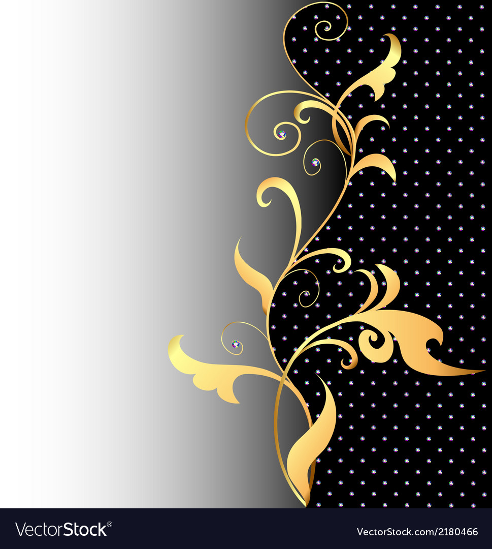 Background with ornaments of gold vector | Price: 1 Credit (USD $1)