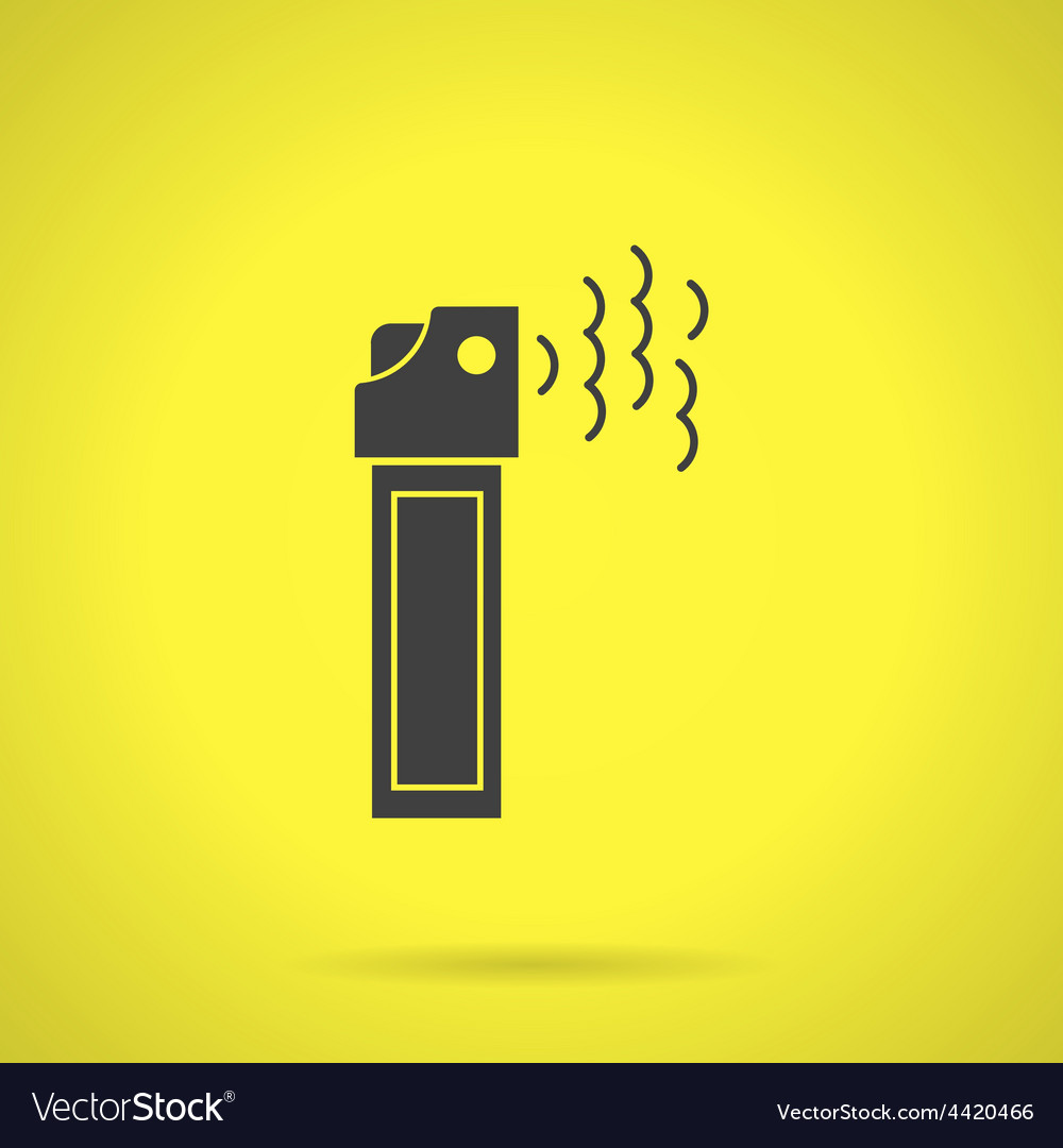 Black teargas can flat icon vector | Price: 1 Credit (USD $1)