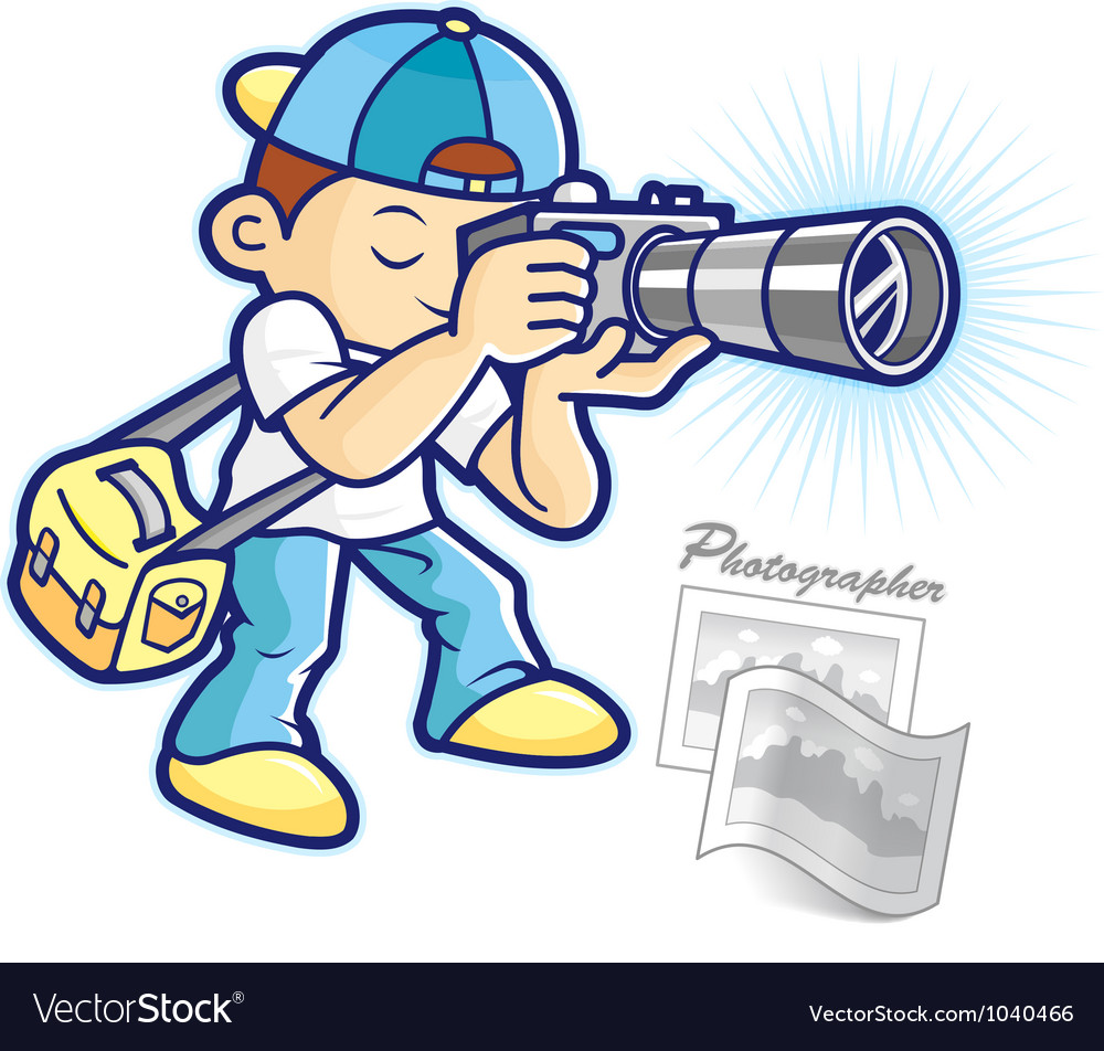 Cartoon photographer vector | Price: 1 Credit (USD $1)