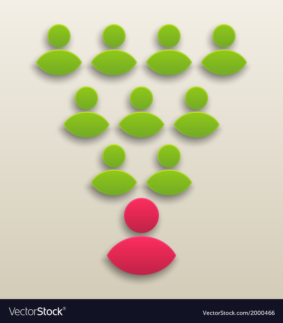 Concept of working together team people icon vector | Price: 1 Credit (USD $1)