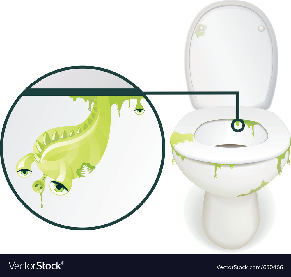 Dirty toliet vector | Price: 3 Credit (USD $3)