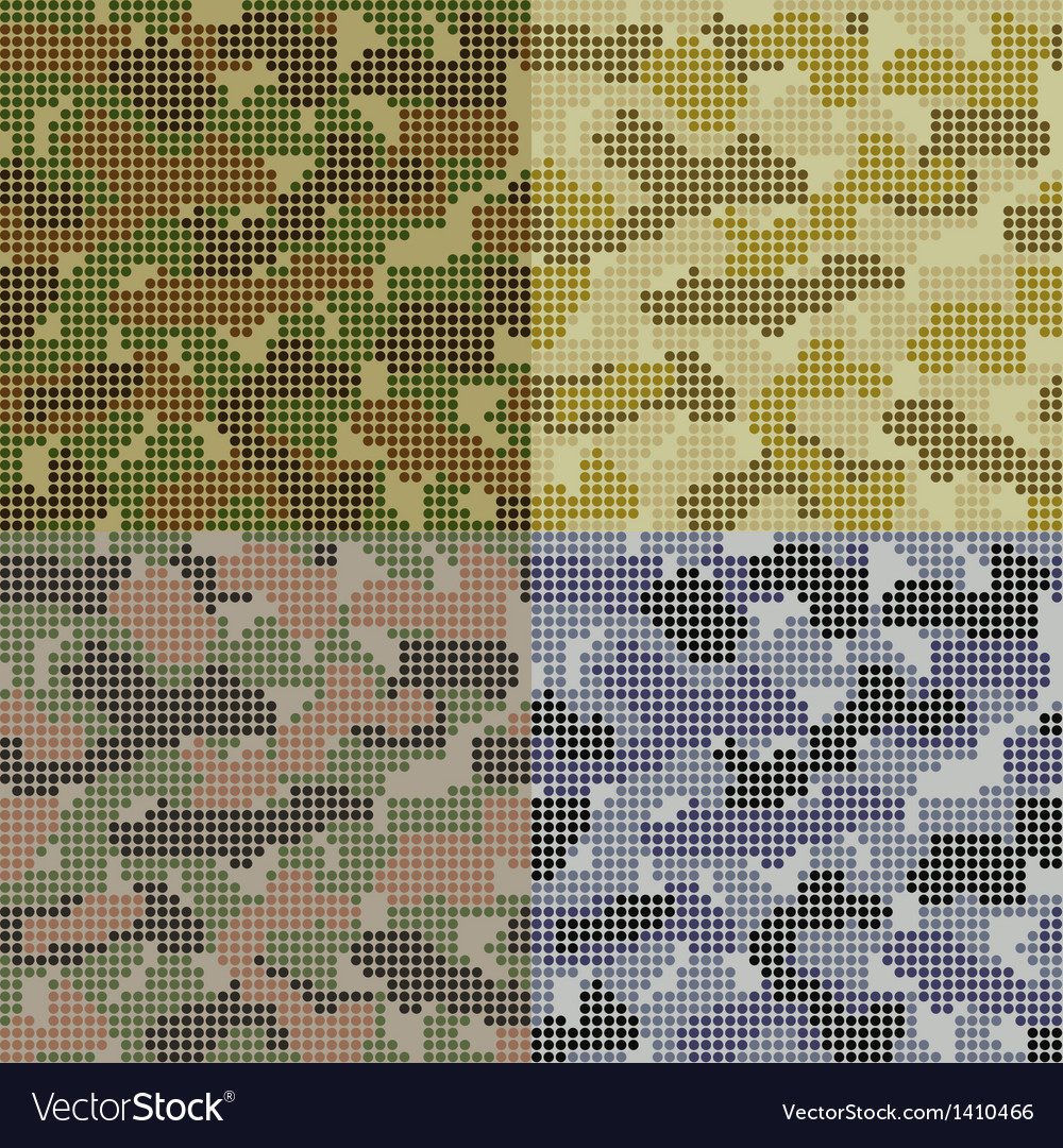 Dotted camouflage patterns vector | Price: 1 Credit (USD $1)