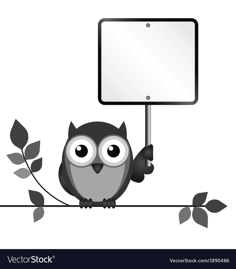 Owl sign vector | Price: 1 Credit (USD $1)