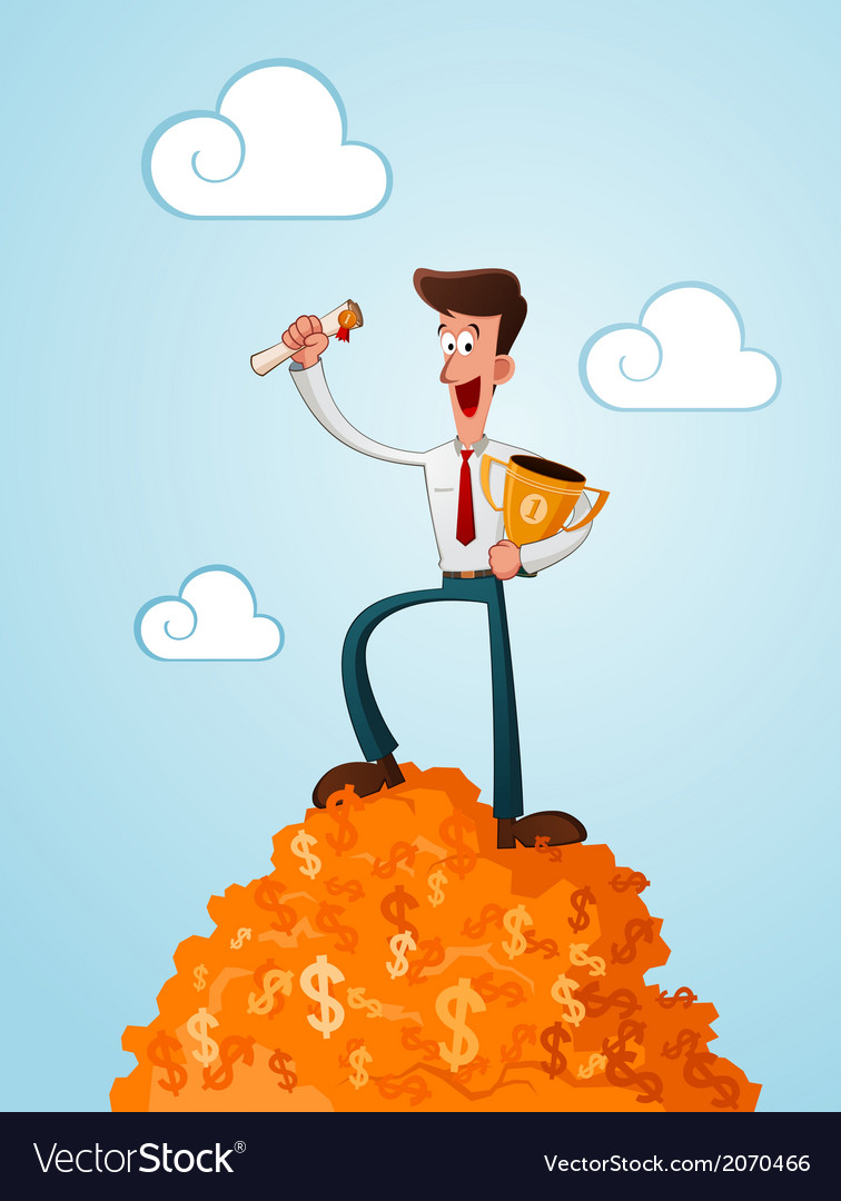 Successfull businessman vector | Price: 1 Credit (USD $1)
