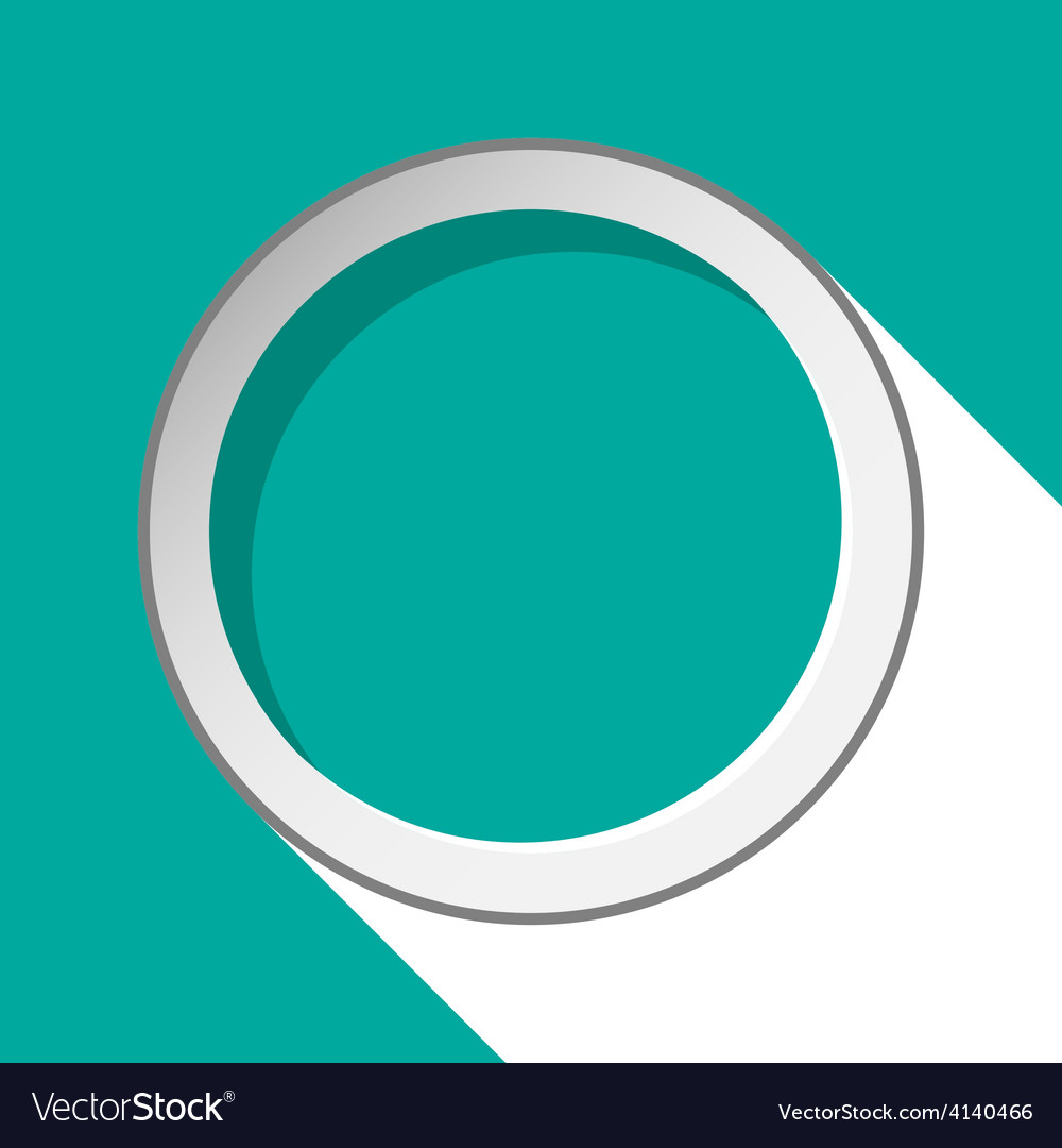 Turquoise circle with stylized shadow vector | Price: 1 Credit (USD $1)